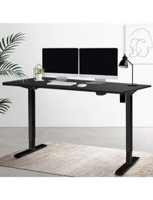 Artiss Standing Desk Sit Stand Table Riser Height Adjustable - Black