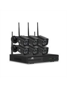 UL-tech CCTV Wireless 6 Security Camera System Kit Outdoor IP WIFI 1080P 8CH NVR