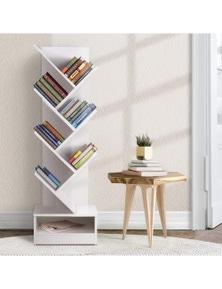 Artiss Display Shelf 7-Shelf Tree Bookshelf - White