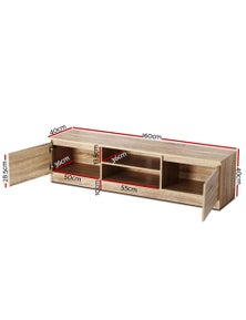TV Cabinet Entertainment Unit Stand Lowline Storage Wooden160CM
