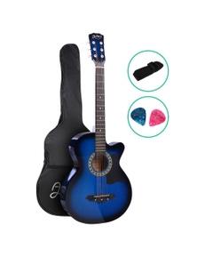 Alpha Guitar Acoustic Guitar 38 Inch Blue
