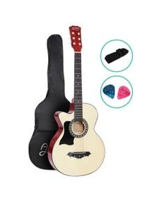Alpha Guitar Acoustic Guitar 38 Inch Left Handed Wood