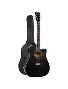 Alpha Guitar Acoustic Electric Guitar 41 Inch Black