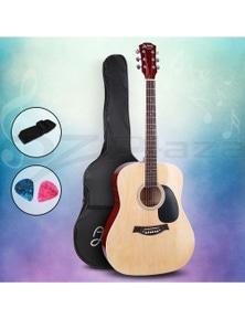 Alpha Guitar Acoustic Guitar 41 Inch Wood