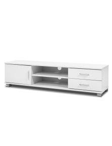 TV Cabinet Entertainment Unit Stand Storage Drawers Shelf 120cm White