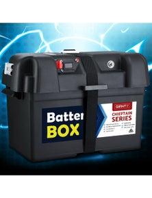 Battery Box 12V Camping Portable Deep Cycle AGM Universal Large XL