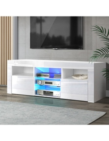 Artiss 145cm White RGB LED Mont TV Entertainment Unit