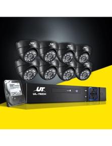 UL Tech CCTV Security System 2TB 8CH DVR 1080P 8 Camera Sets