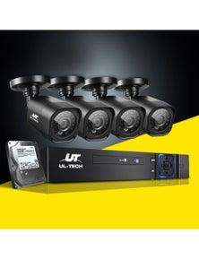 UL Tech CCTV Security System 2TB 8CH DVR 1080P 4 Camera Sets
