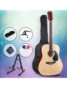 Alpha Guitar Acoustic Guitar Pack 41 Inch Wood