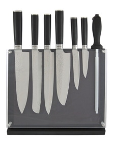 Laguiole By Louis Thiers Artisan 8-Piece Kitchen Knife Set With Magnetic Block