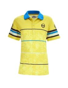 Sergio Tacchini Men's Break Polo Tee Shirt Sport Tennis - Acid Lime