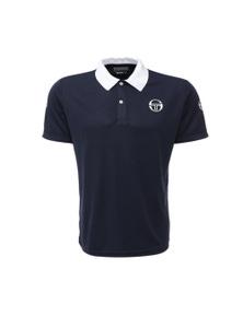 Sergio Tacchini Men's Retro S/S Polo Tee Shirt Sport Tennis - Navy/White