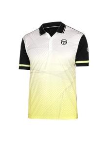 Sergio Tacchini Men's Polo Accelerate FS18 Sport Tennis - Black/Yellow