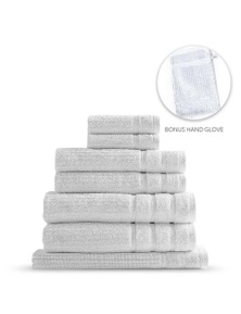 Royal Comfort Eden 600GSM 100% Egyptian Cotton 8-Piece Towel Pack