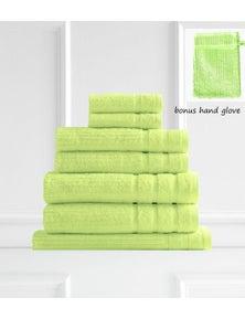 Royal Comfort Eden 600GSM 100% Egyptian Cotton 8-Piece Towel Pack