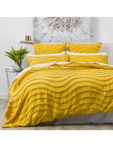Cloud Linen Wave Cotton Chenille Quilt cover Set