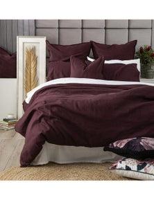 Renee Taylor Cavallo Stone Washed 100% Linen Euro Pillowcase