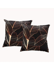 Renee Taylor Poly Velvet Printed Cushion Filled 50x50cm - Twin Pack