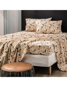 Park Avenue 175 GSM Egyptian Cotton Flannelette printed Sheet Sets Misty Cats