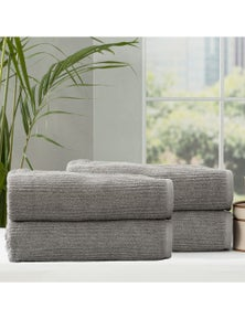 Renee Taylor Cobblestone 650 GSM Cotton Ribbed Towel Packs 4pc BS