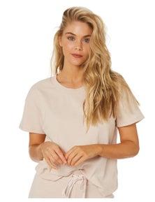 Swell Womens Oasis Rib Jersey Short Sleeve Tee