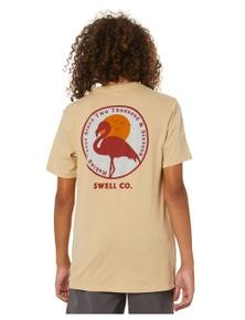 Swell Boys Crimson Short Sleeve Cotton Tee