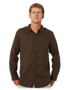 Swell Manila Mens Long Sleeve Linen Shirt