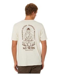 No News Men's Mind Quiet Short Sleeve Tee Crew Neck Short Sleeve Cotton