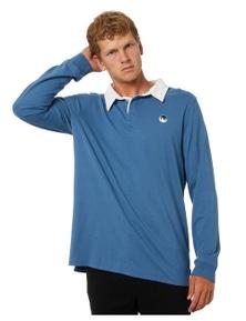 No News Men's Cryptic Long Sleeve Polo Long Sleeve Cotton