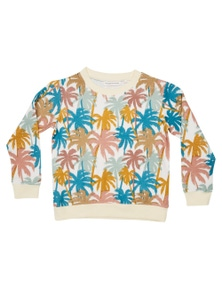 Pumpkin Patch Boys Vintage Palms Crew Neck Sweatshirt