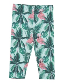 Pumpkin Patch Kids Baby Flamingo Palm Tree Legging