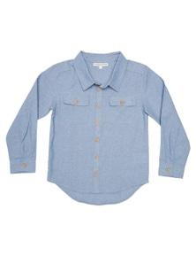 Pumpkin Patch Boys Classic Long Sleeve Chambray Shirt