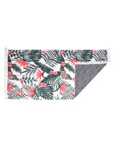 Good Vibes Bird Of Paradise Double Sided Beach Towel With Tassels
