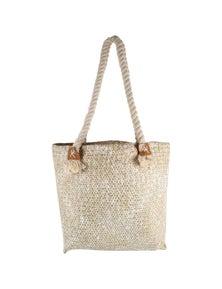 Good Vibes White Haven Straw Bag