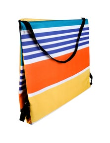 Good Vibes Retro Stripe Collapsible Beach Lounger