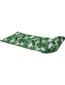 Good Vibes Leaf Beach Towel With Inflatable Pillow