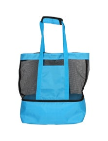 Good Vibes Blue 2 In 1 Beach And Cooler Bag