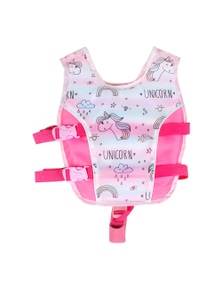 Good Vibes Unicorn 3-5 Years Kids Swim Vest With Anti Rise Strap