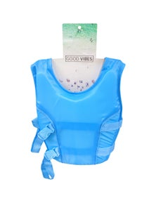 Good Vibes Blue 3-5 Years Kids Swim Vest With Anti Rise Strap