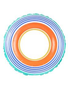 Good Vibes Retro Stripe Swim Ring