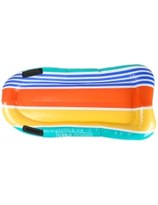 Good Vibes Retro Stripe Surf Mat