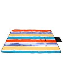 Good Vibes Retro Stripe Pvc Backed Printed Picnic Rug