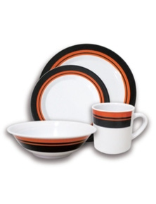 Wildtrak MELAMINE CAMPING DINNER SET 16PCE
