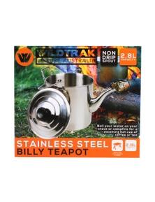 Wildtrak BILLY TEAPOT S/STEEL 2800ML IN G/B