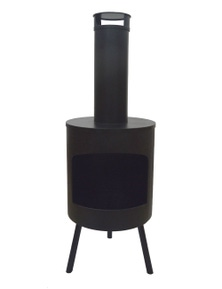 Wildtrak OUTDOOR FIRE PLACE ROUND ON FOOT BLACK COLOR IRON