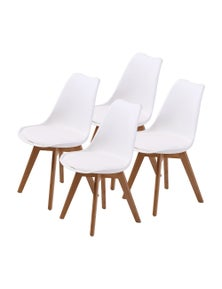 La Bella Dining Chairs Eames PU Padded (Set Of 4)