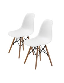 La Bella Eames DSW High Quality PP Dining Chair White (2 Pcs)