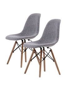 La Bella Grey Eames DSW Dining Chairs (Set Of 2)