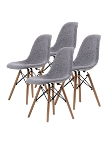 La Bella Grey Eames DSW Dining Chairs (Set Of 4)